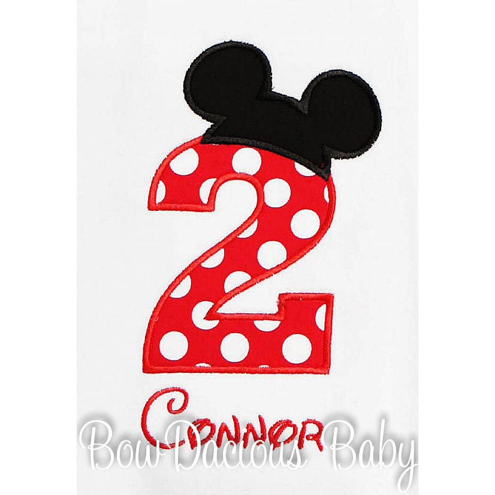 765fd67c4 Mickey Mouse Birthday Shirt, Mickey Mouse Birthday Party, Second Birthday,  Boys, Shirt ...