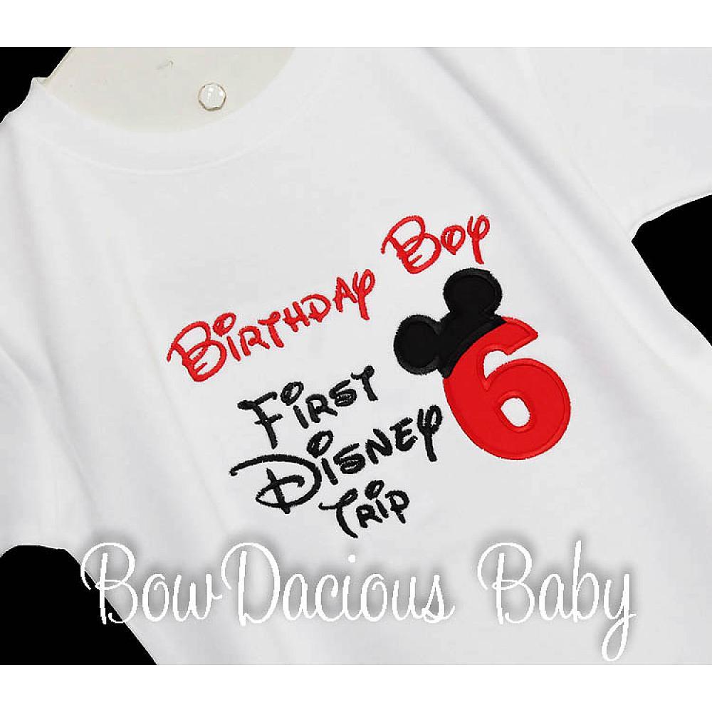 My First Disney Trip Shirt Birthday 1st Custom Any Age