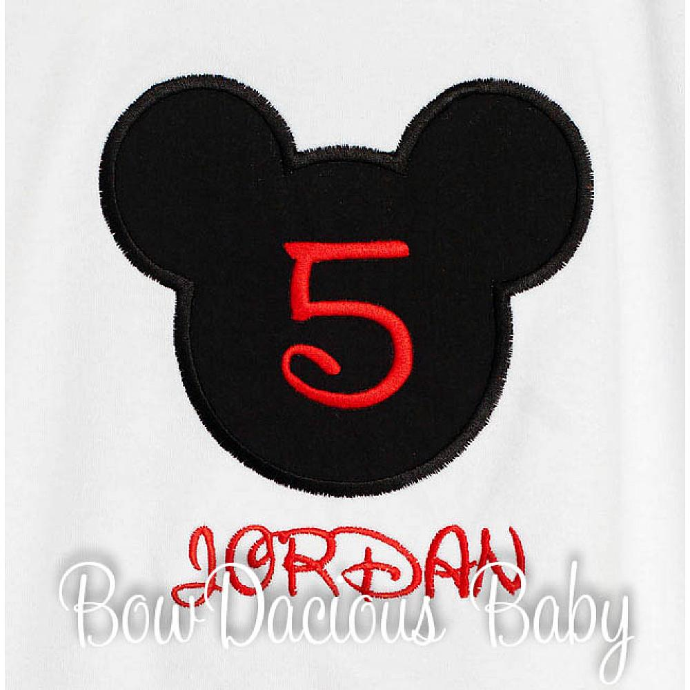 5th BIRTHDAY Mickey Head Boy Shirt
