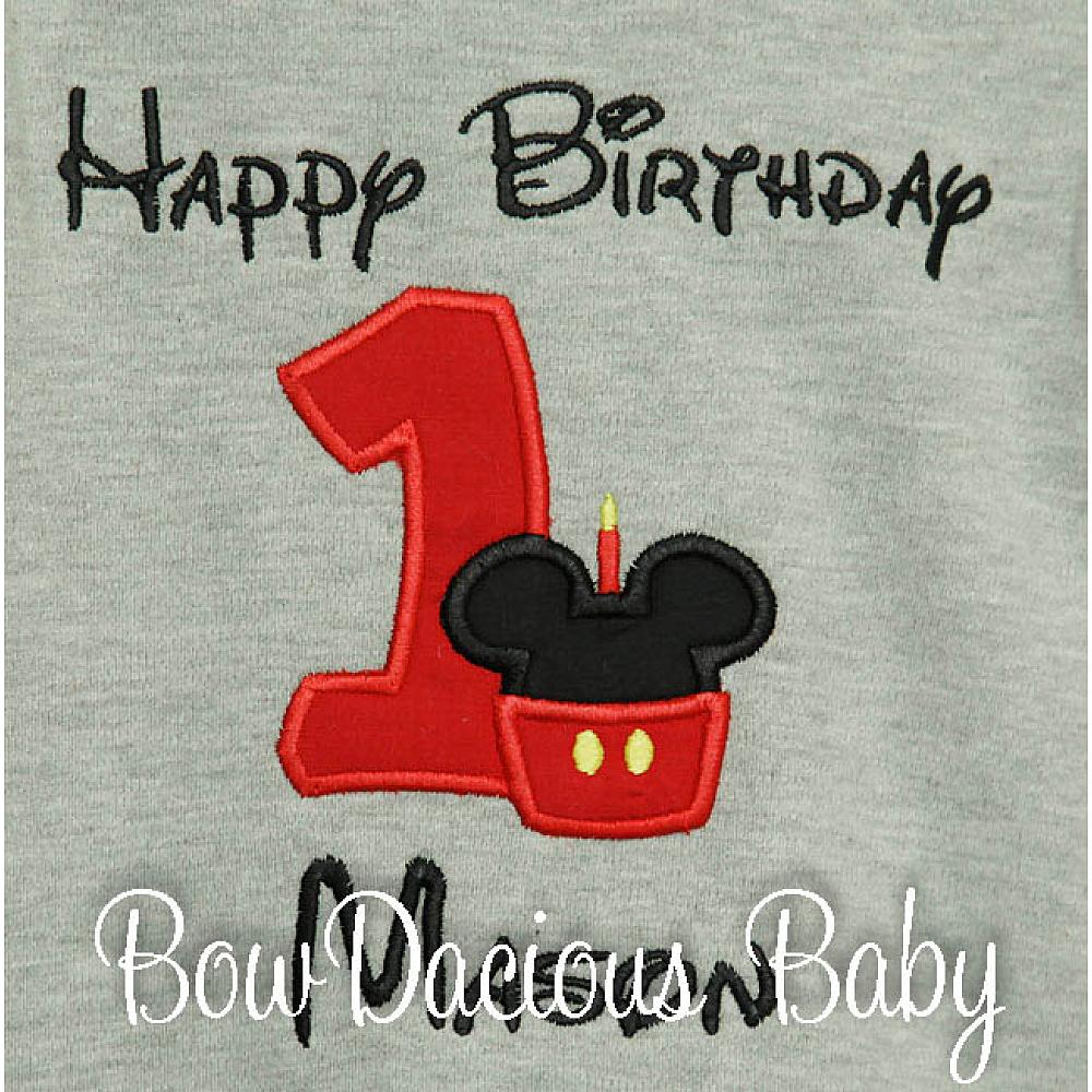 Mickey Minnie Mouse Birthday Shirt