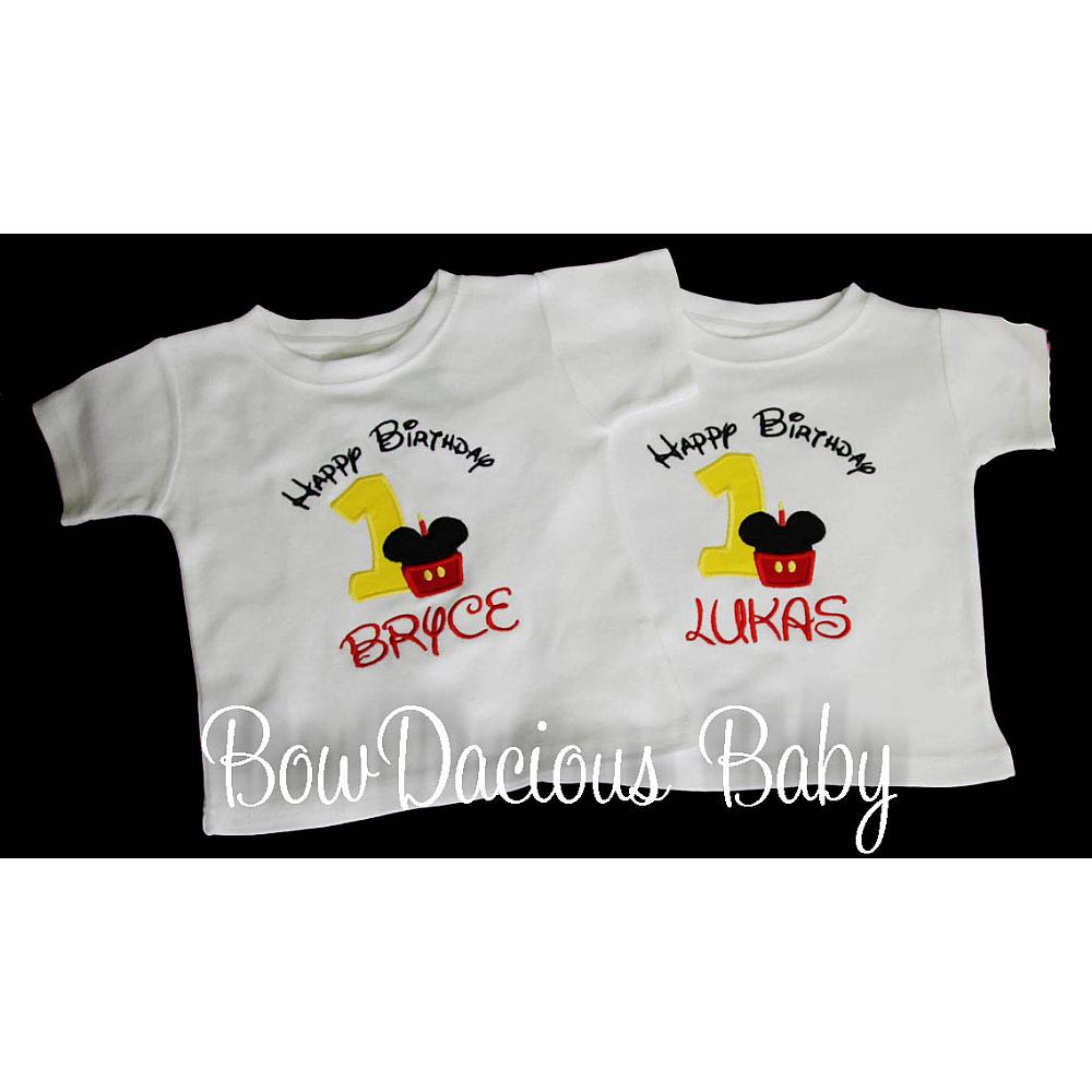 Twin Birthday Shirts Minnie And Mickey Mouse Boy Girl