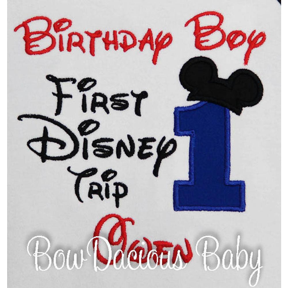 My 1st Disney Trip Birthday Personalized First Shirt Or Onesie Disneyland Disneyworld