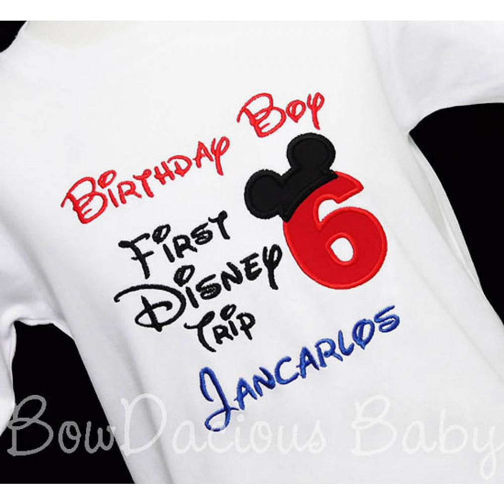 My First Disney Trip Shirt Birthday 6th Onsie