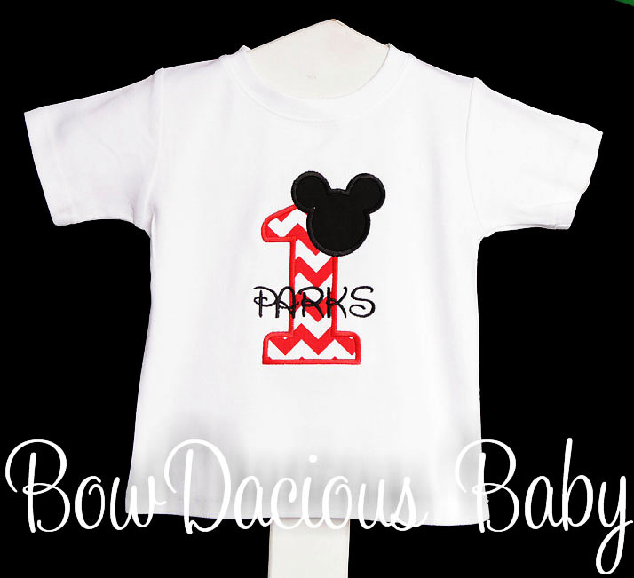 1st Birthday Mickey Mouse Number Shirt or Onesie, CUSTOM