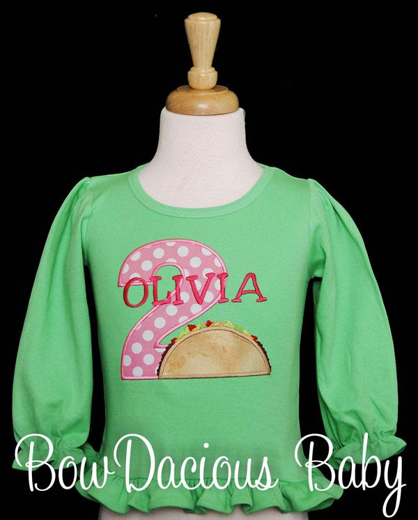 Girl's Taco Twosday Shirt, Toddler Girl's 2nd Birthday Shirt, 2nd Birthday Outfit, Fiesta Birthday Outfit Taco Birthday Outfit, Taco Tuesday, CUSTOM