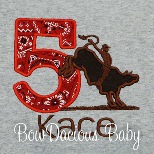 Personalized Bull Rider Birthday Shirt, Custom, Any Age, Any Colors