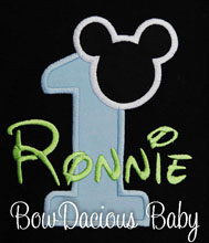 Baby Mickey Mouse 1st Birthday Onesie, Boys Birthday Onesie, Boys Mickey Mouse Outfit T