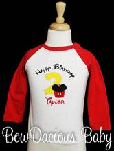 Birthday Boy Shirt with Number, Birthday Boy, Red Raglan, Custom, Shirt or Onesie