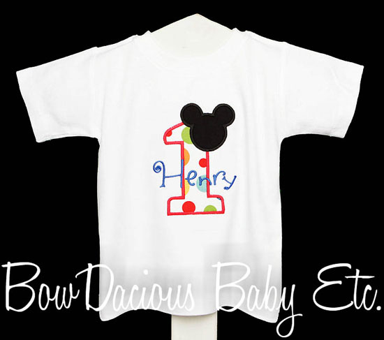 Boys Mickey Mouse Clubhouse Birthday Onesie or Shirt, Custom