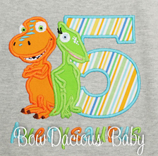 Personalized Dinosaur Train Birthday T-Shirt with Buddy and Tiny, Custom, Any Age