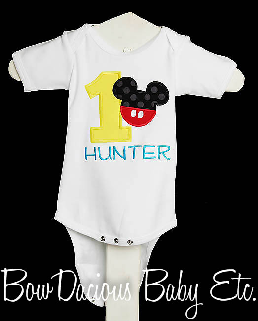 Mickey Mouse Birthday Onesie, Mickey Birthday Shirt, Mickey Mouse Birthday Disney Clothing, Cake Smash Outfit, Birthday Boy, Mickey Birthday Party