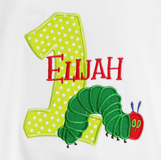Boys Personalized Hungry Caterpillar Onesie or Shirt