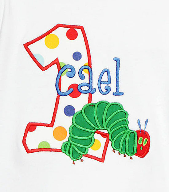Hungry Caterpillar Birthday Shirts and Onesies