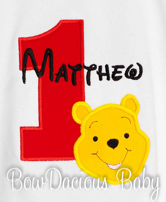 Winnie the Pooh Birthday Shirts and Onesies