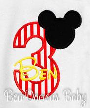 Mickey Mouse 1st Birthday Onesie Mickey Print Baby Boy Birthday Party Outfit, Custom