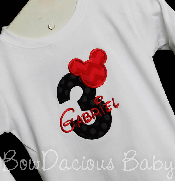 Mickey Mouse 3rd Birthday, Mickey Three Shirt, Boy Three Outfit, Boy Third Birthday Shirt, Disney Three Shirt, Disney Trip Clothing, Custom, Any Age