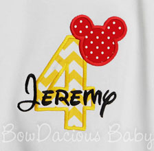 Mickey Mouse Birthday Shirt, 4th Birthday, Mickey Mouse, Custom, Any Age