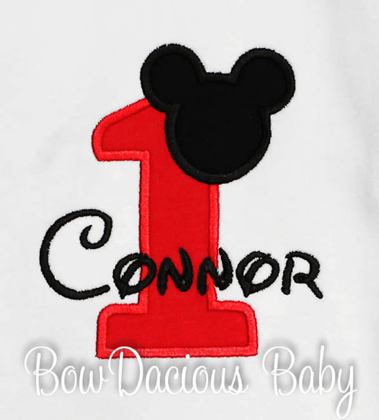 Mickey Mouse Birthday Boy Bib