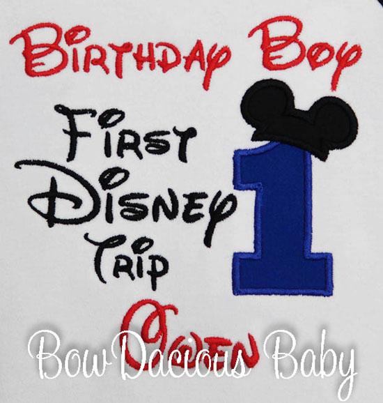 My 1st Disney Trip, Birthday Disney Trip, Personalized First Disney Trip Shirt or Onesie, Disneyland, Disneyworld, Disney Trip Shirt