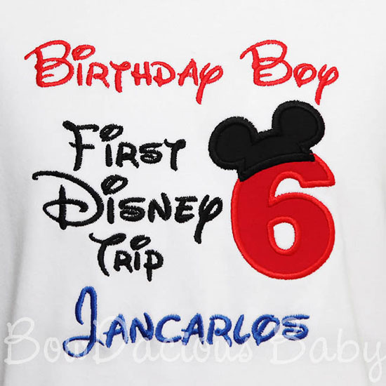 My First Disney Trip Shirt, Birthday Shirt, Disney Trip, 6th Birthday, Onsie