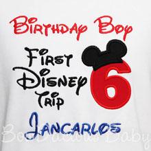 My First Disney Trip Shirt, Birthday Shirt, Disney Trip, 6th Birthday, Onsie