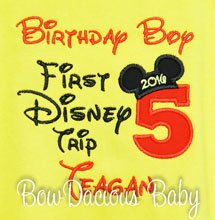 My First Disney Trip Shirt, Birthday Disney Trip