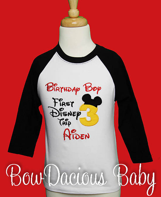 My first Disneyland Trip, Personalized Mickey Mouse, Disney Raglan, Shirt or Onesie, Custom