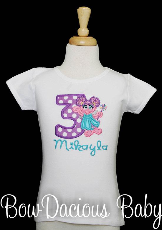 Abby Cadabby Birthday Shirt, Any Name and Age, Family Matching Shirts, Sesame Street Birthday Shirt, Custom