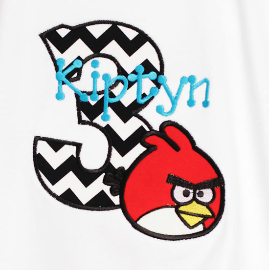 Boys Angry Birds Birthday Shirt