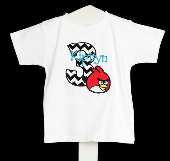 Boys Angry Birds Birthday Shirt