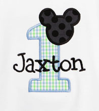 Personalized Baby Mickey Mouse Birthday Shirt or Onesie, Custom
