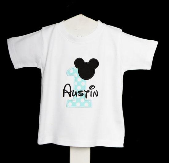 Custom Baby Mickey Birthday Onesie