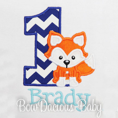 Boy's Woodland Fox Birthday Shirt, Custom, Personalized, Any Age and Colors