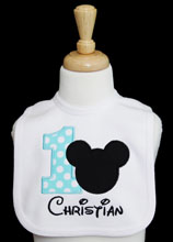 Disney Baby Mickey Mouse Happy 1st Birthday Party Babies Bib
