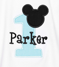 Boys Baby Mickey Mouse Birthday Onesie, Custom