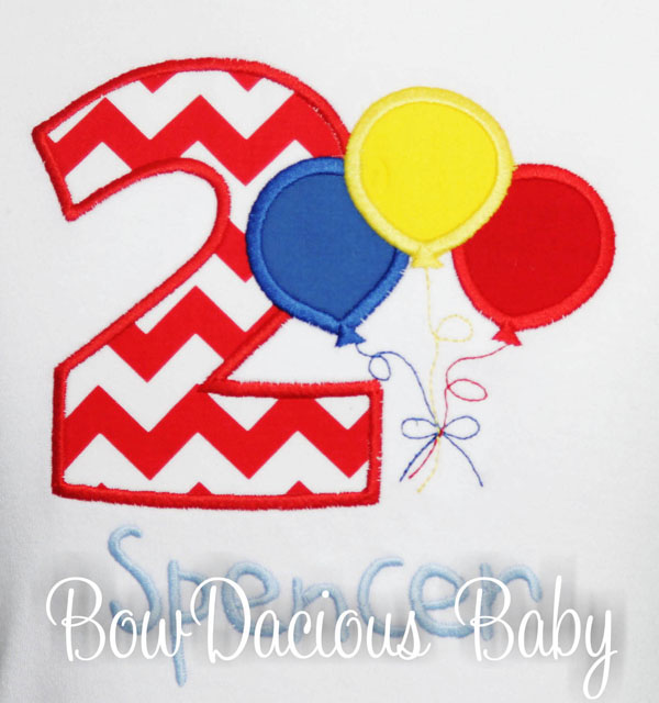 Balloons Birthday Shirt, Custom, Personalized, Any Age and Colors
