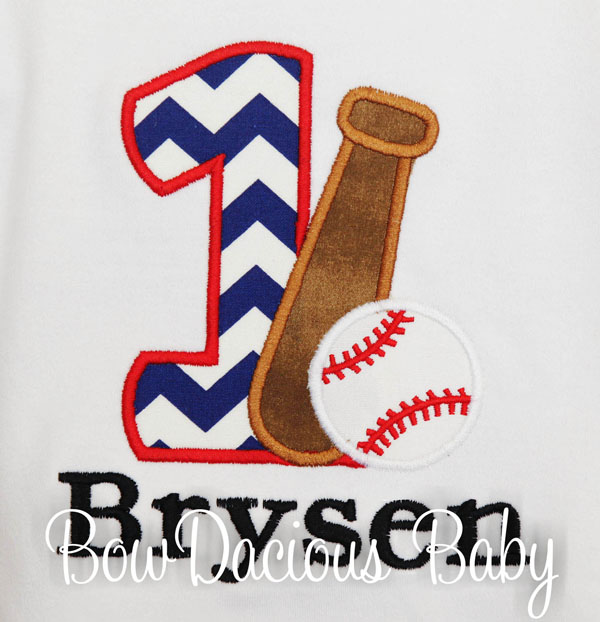 Baseball Birthday Shirt, Birthday Shirt with Number, Ball, and Bat, Custom, Any Age and Colors