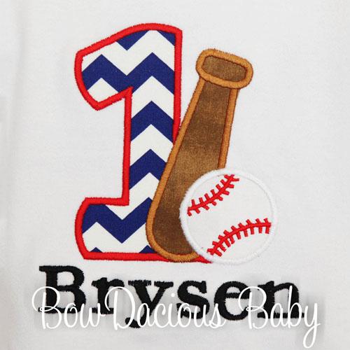 Baseball Birthday Shirt, Birthday Shirt with Number, Ball, and Bat, Custom, Any Age and Colors