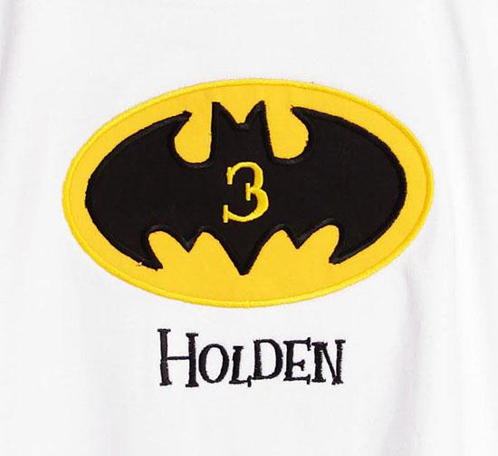 Boys Batman Birthday Shirt or Onesie