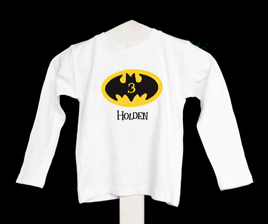 Boys Batman Birthday Shirt or Onesie