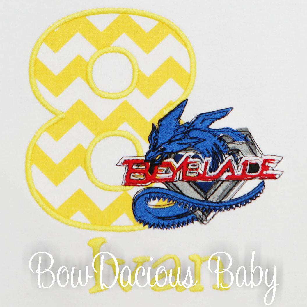 Personalized Beyblade Birthday Shirt, Custom, Any Age, Color Colors