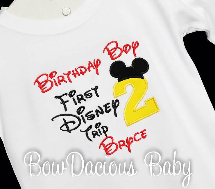 My First Disney Trip Birthday Shirt, Any Age, Custom Colors