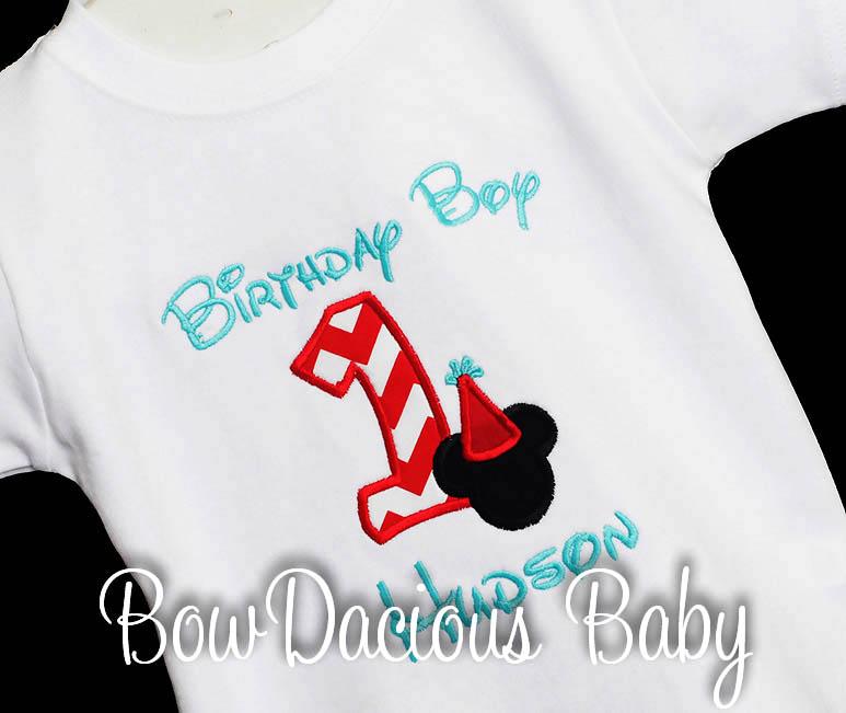 Mickey Mouse Birthday Boy Hat Shirt Disney Personalized, Shirt or Onesie, Custom, Any Age