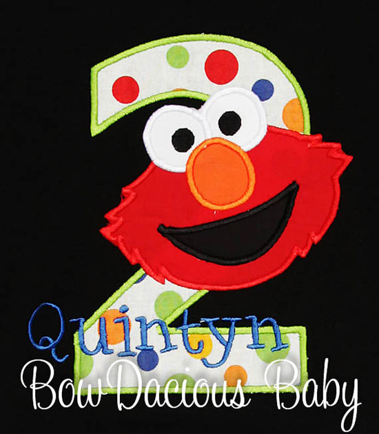 Elmo Birthday Shirt, Custom, Any Age
