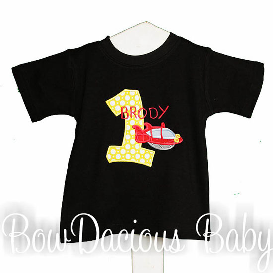 Little Einstein Birthday Shirt with Custom Number Applique