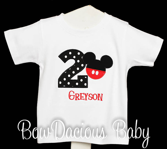 Boys Mickey Mouse Birthday Shirt With Pants Custom Any Age