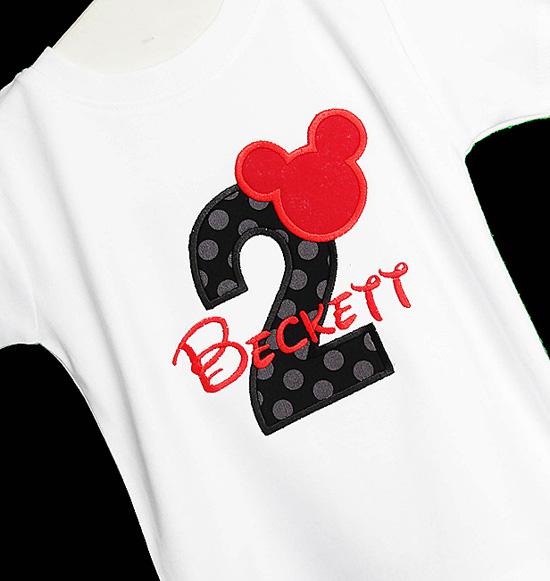 Mickey 2nd Birthday Shirt, Custom, Any Age