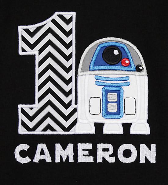 Star Wars R2D2 Birthday Shirt or Onesie, Custom, Any Age