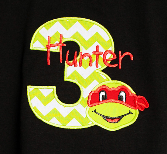 Teenage Mutant Ninja Turtle Birthday Shirt, Custom, Any Age