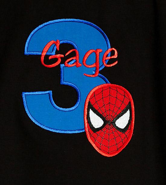 Spiderman Birthday Shirt or Onesie
